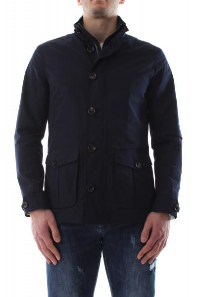 Men's green 4 pockets field jacket P21-12