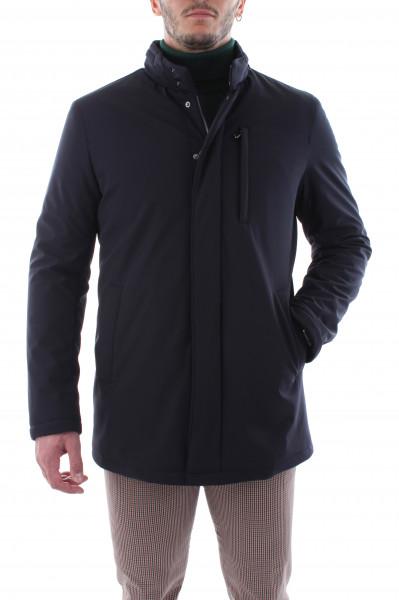 Men's double-necked dark brown jacket T20-04