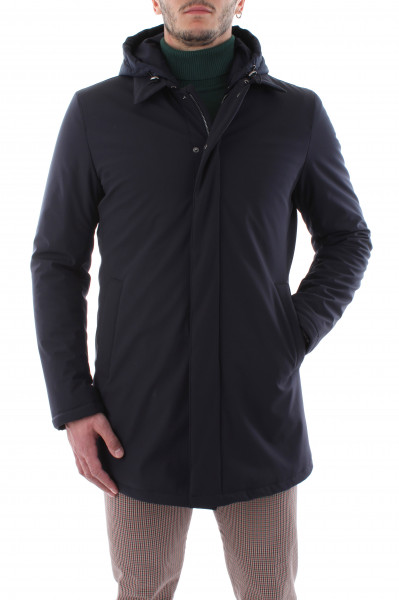 Waterproof short beige trench coat man E20-00
