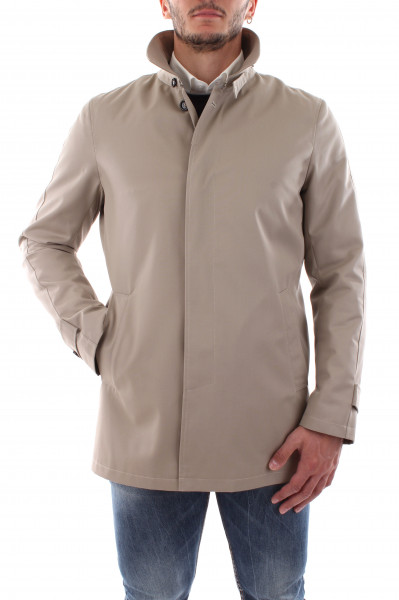 Waterproof short blue trench coat man E20-00