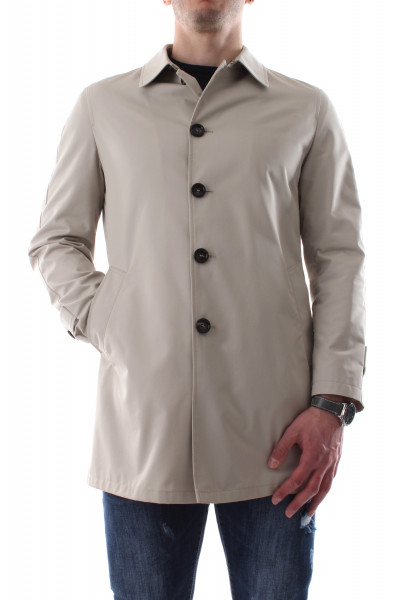Men's ice lined single-breasted trench coat P21-05